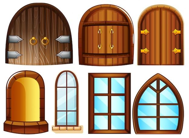 Ilustraci n de diferentes dise os de puertas y ventanas - Finestre castelli medievali ...