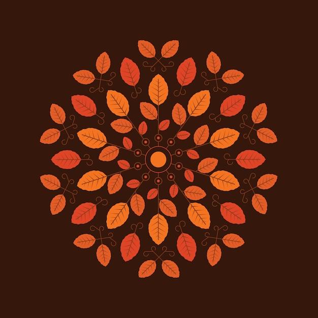 ilustración de fondo de otoño en estilo plano Vector Gratis
