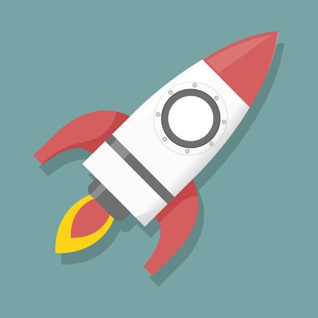 Ilustración de lanzamiento de cohete gráfico de icono | Descargar ...