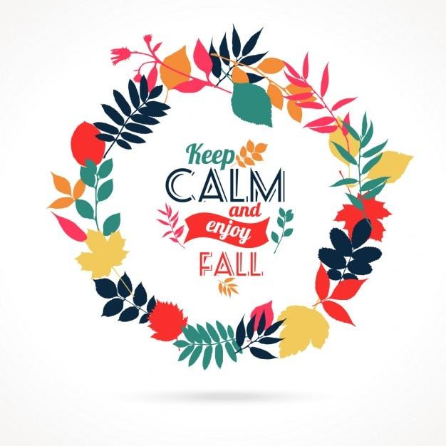Ilustración de las hojas de otoño Vector Gratis