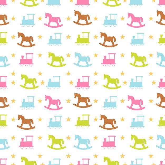 Ilustración de vector de patrones sin fisuras de juguete | Descargar ...