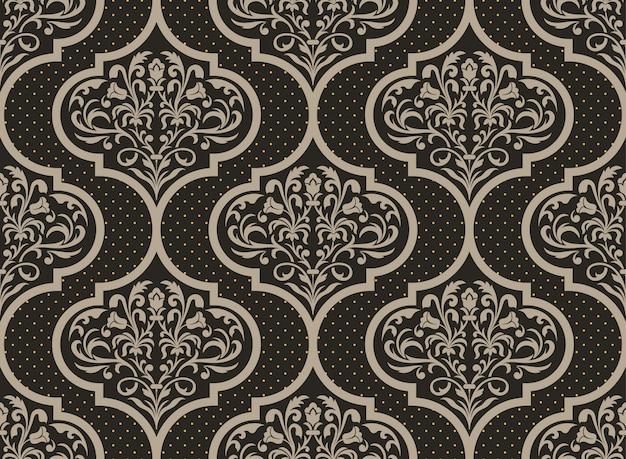 Ilustración decorativa del damasco vector gratuito