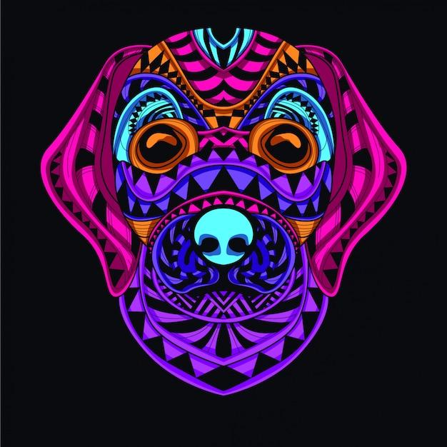Ilustración decorativa del perro Vector Premium