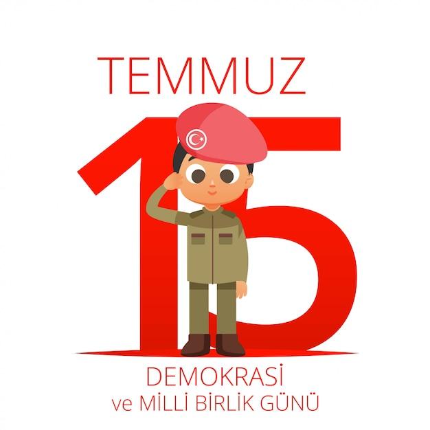 Ilustración del día nacional de turquía | Descargar Vectores Premium