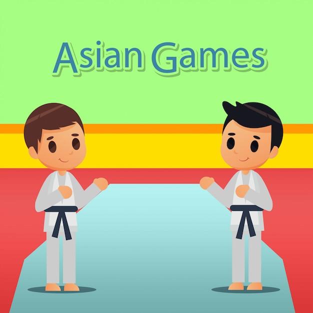 Ilustración de deporte de karate Vector Premium
