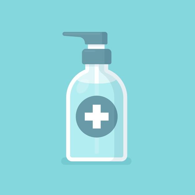 Ilustración de desinfectante de manos vector gratuito