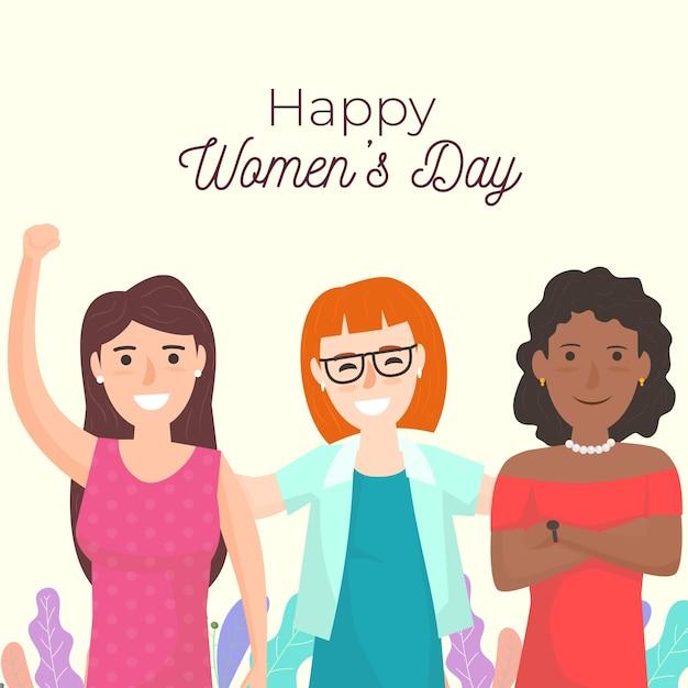 Ilustración del día de la mujer del grupo de mujeres vector gratuito