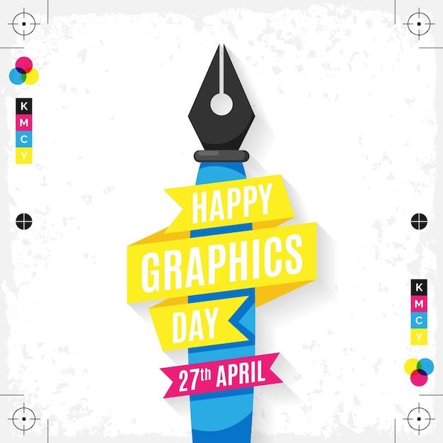 Ilustración del día mundial de los gráficos vector gratuito