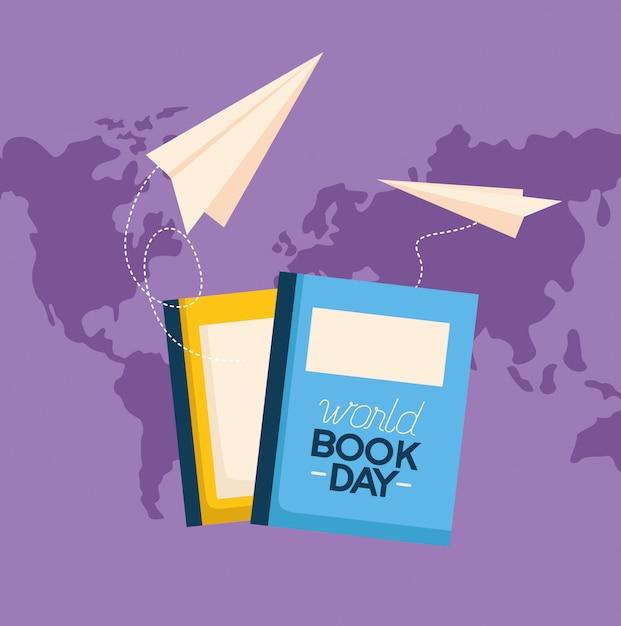 Ilustración del día mundial del libro vector gratuito