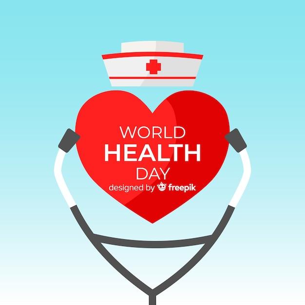 Ilustración del día mundial de la salud con equipo médico vector gratuito