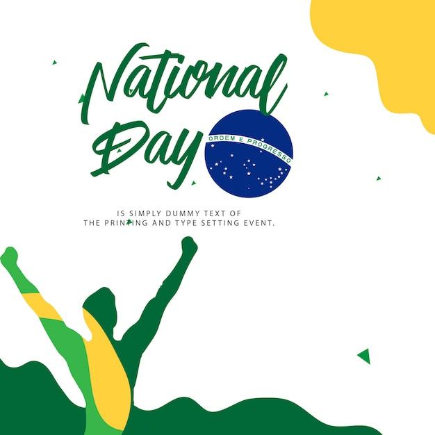 Ilustración del día nacional de brasil Vector Premium