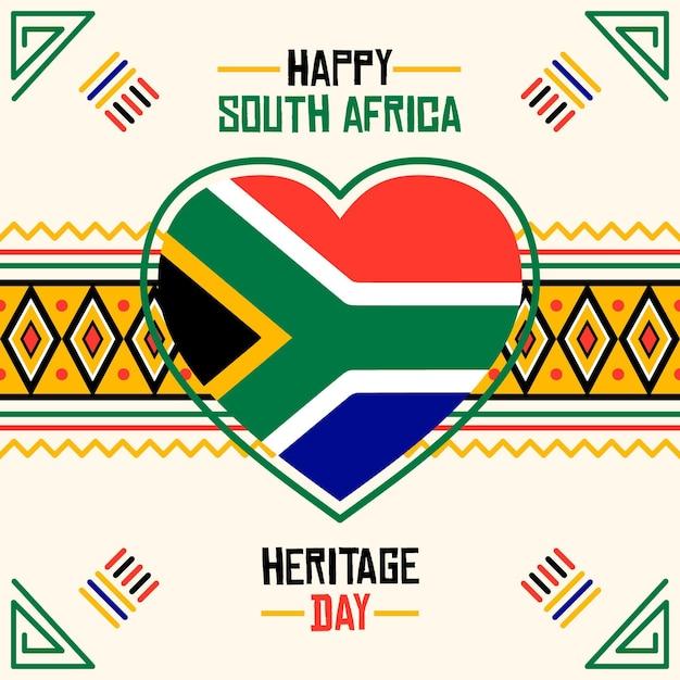 Ilustración del día del patrimonio sudáfrica vector gratuito