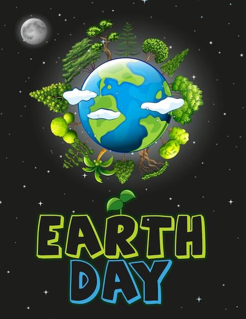 Una ilustración del día de la tierra vector gratuito