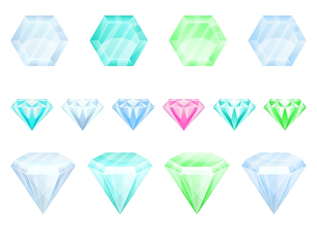 Ilustración de diamante aislado sobre fondo blanco Vector Premium