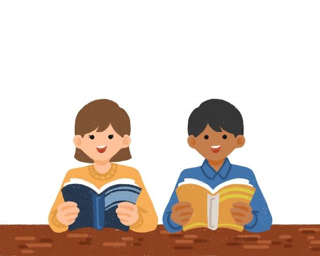 Ilustración de dibujado a mano lindo día internacional de la alfabetización Vector Premium