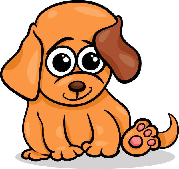 Ilustración De Dibujos Animados De Bebé Perrito Descargar Vectores