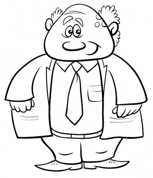 Ilustracion De Dibujos Animados En Blanco Y Negro Del Libro De