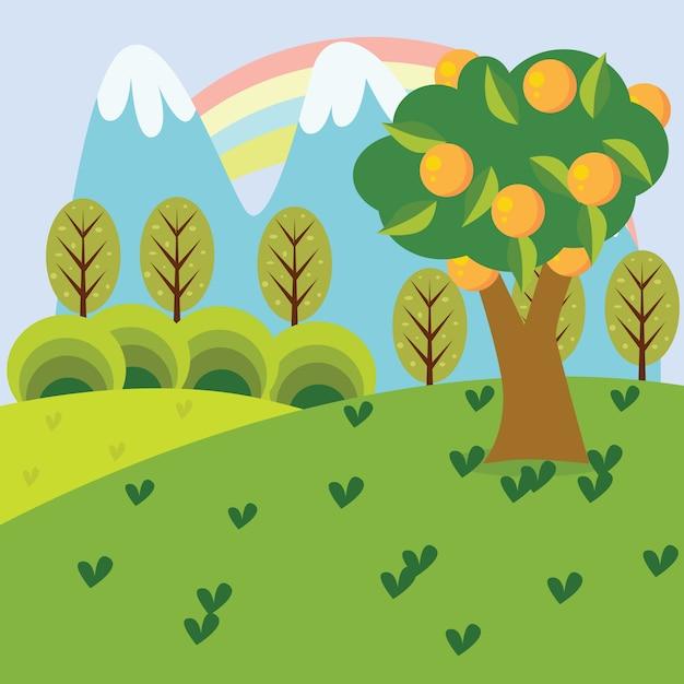 Ilustración De Dibujos Animados De Naturaleza Descargar Vectores