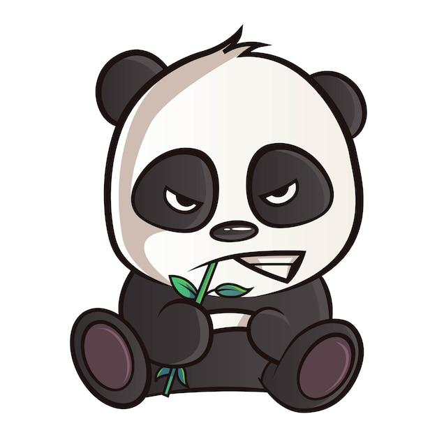 Ilustración de dibujos animados de panda. Vector Premium
