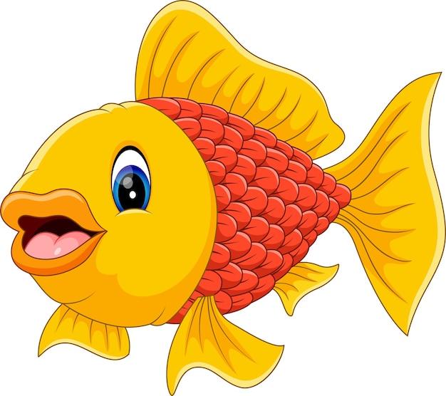 ilustraci243n de dibujos animados de peces lindos