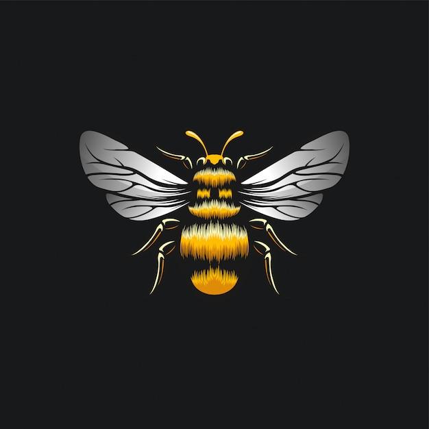 Ilustración de diseño de abeja Vector Premium
