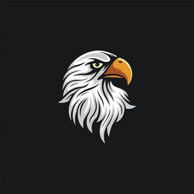 Ilustración de diseño de cabeza de águila Vector Premium