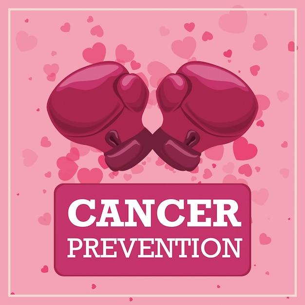Ilustración de diseño de cáncer Vector Premium