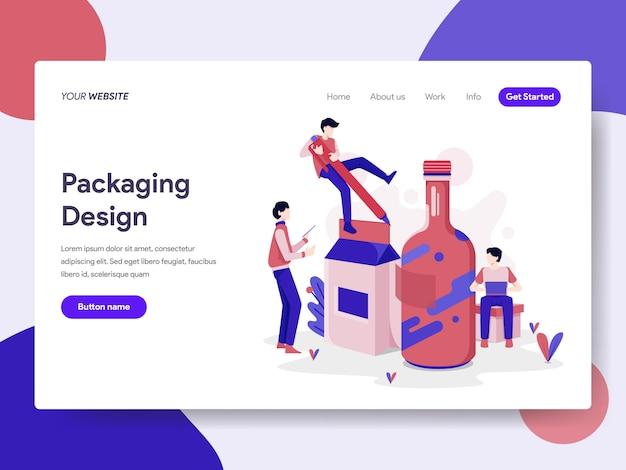 Ilustración de diseño de embalaje Vector Premium