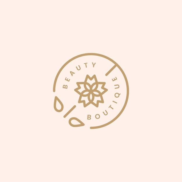 Ilustración de diseño de logotipo de boutique de belleza vector gratuito