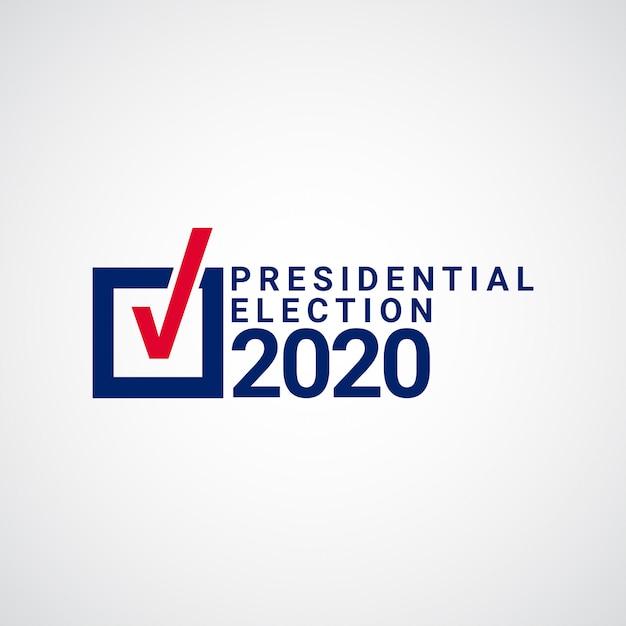 Ilustración de diseño de plantilla de elecciones presidenciales Vector Premium