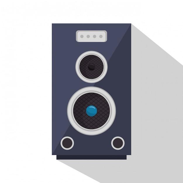Ilustración del dispositivo de sonido del altavoz vector gratuito