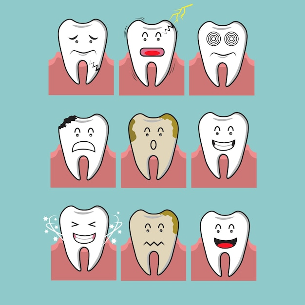 Color saludable de los dientes