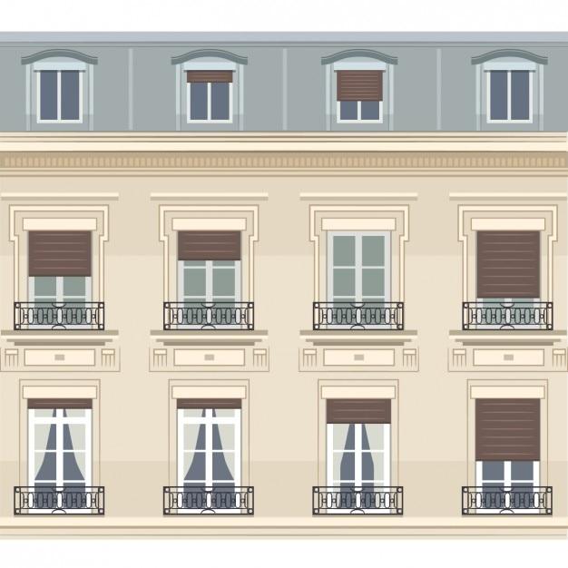 Ilustración de edificio parisino | Descargar Vectores gratis