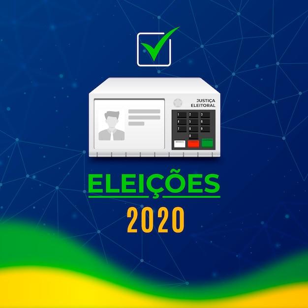 Ilustración de elecciones de brasil 2020 Vector Premium
