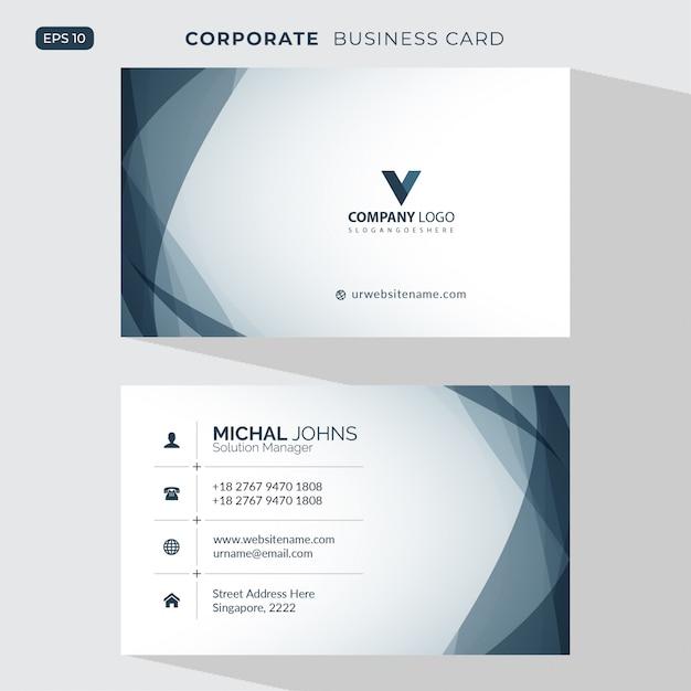 Ilustración elegante tarjeta de visita vector gratuito