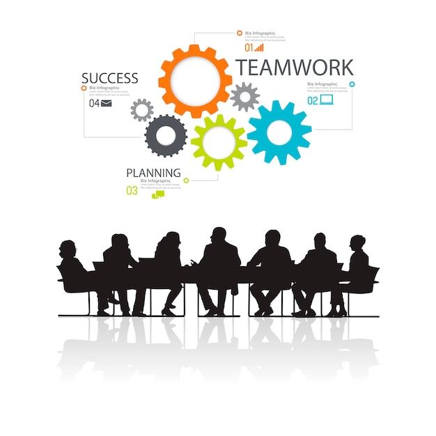 Ilustración de empresarios en la reunión vector gratuito