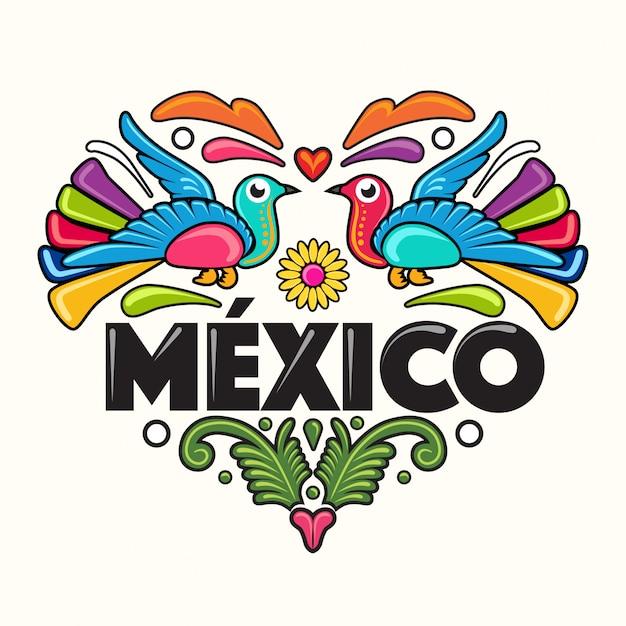 Ilustración de estilo mexicano Vector Premium