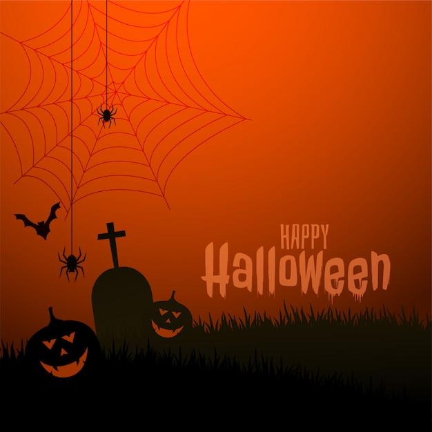Ilustración de festival de tema de miedo feliz halloween vector gratuito