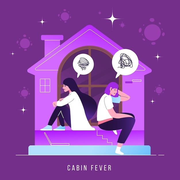 Ilustración de fiebre de cabina vector gratuito