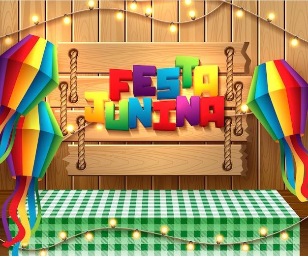 Ilustración de la fiesta junina Vector Premium