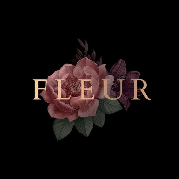 Ilustración floral vector gratuito