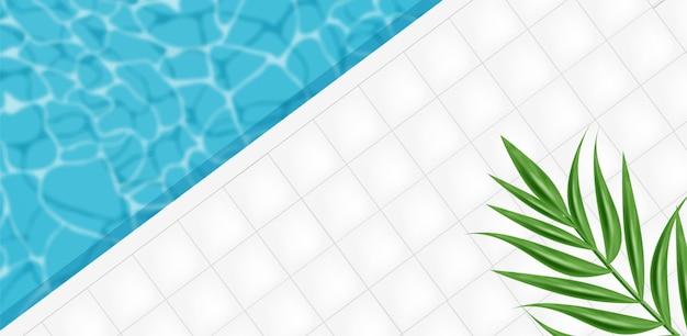 Ilustración de fondo abstracto de piscina Vector Premium