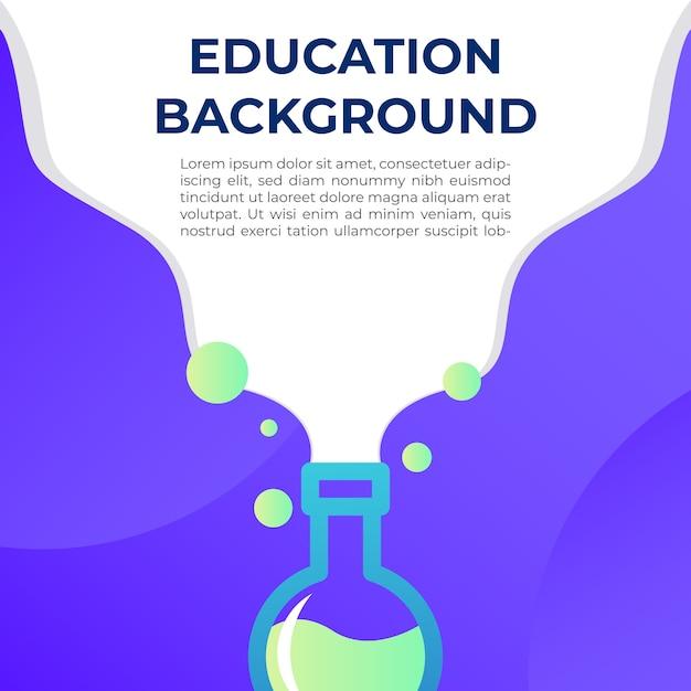 Ilustración de fondo de educación Vector Premium