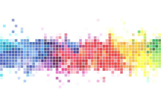 Ilustración de fondo de píxeles de colores Vector Premium