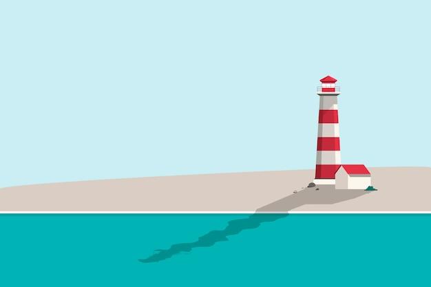 Ilustración de fondo de playa de verano vector gratuito