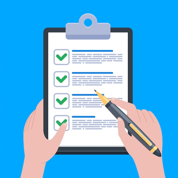 Ilustración de formulario de reclamo Vector Premium