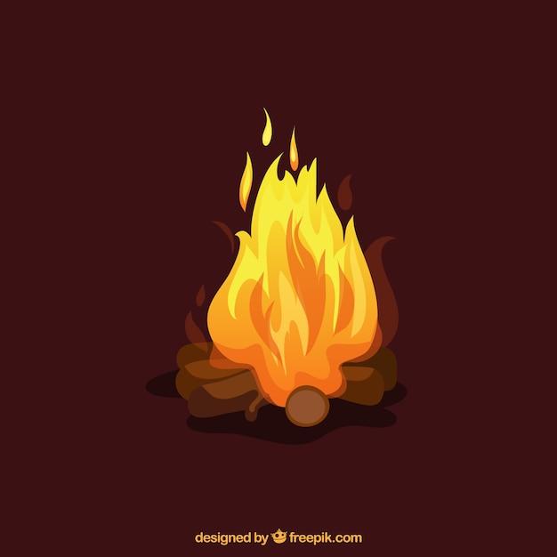 Ilustración de fuego vector gratuito