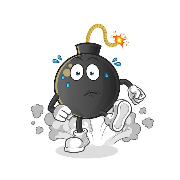 Ilustración de funcionamiento de bomba. personaje Vector Premium