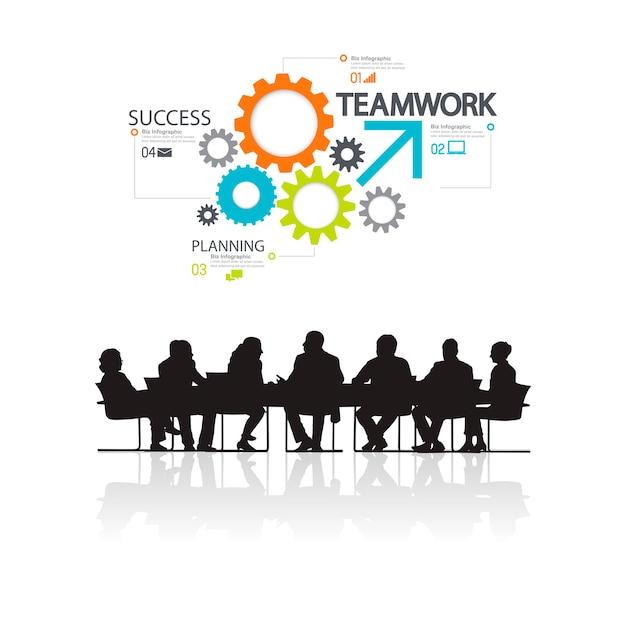Ilustración de gente de negocios en la reunión. vector gratuito