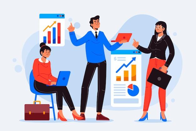 Ilustración de gente de negocios vector gratuito